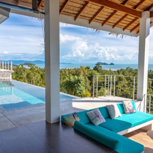 Phangan Development villa for rent-Breathtaking Seaview Villa With 4 Bedrooms - Chalok Ban Kao-koh-phangan-real-estate-development-investment-program-thailand-construction-building-villa-house-for-rent-for-sale-business-lease-hold